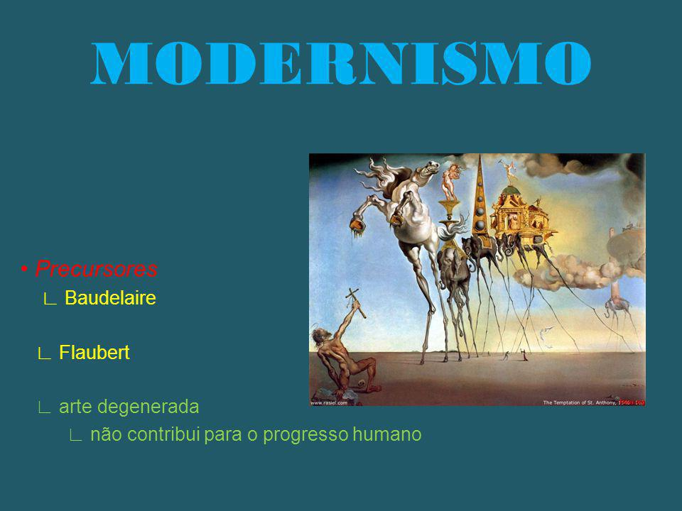 MODERNISMO • Precursores ∟ Baudelaire ∟ Flaubert ∟ arte degenerada