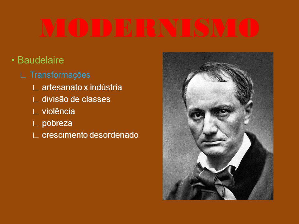 MODERNISMO • Baudelaire ∟ Transformações ∟ artesanato x indústria