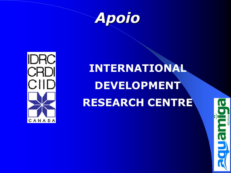 Apoio INTERNATIONAL DEVELOPMENT RESEARCH CENTRE