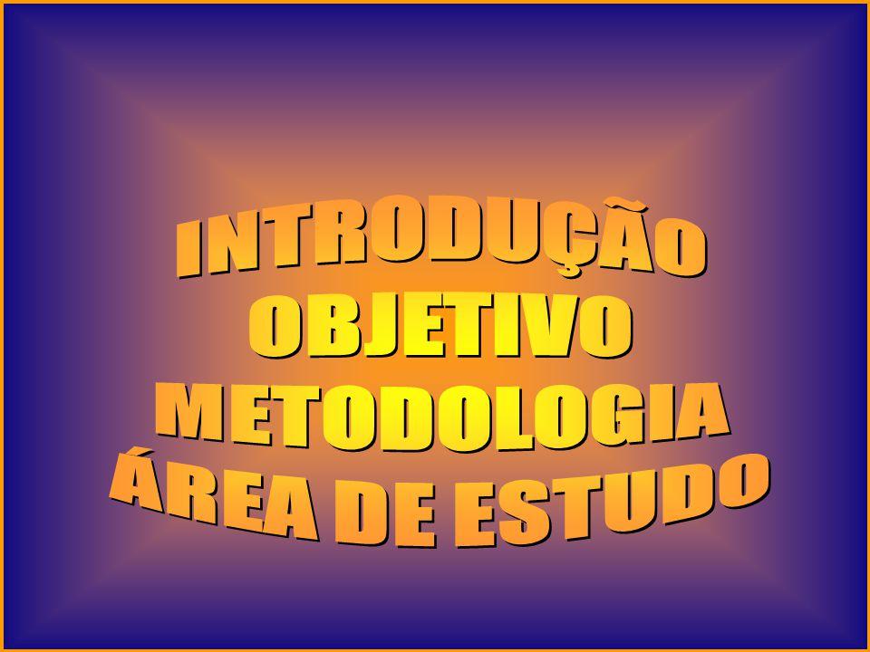 INTRODUÇÃO OBJETIVO METODOLOGIA ÁREA DE ESTUDO