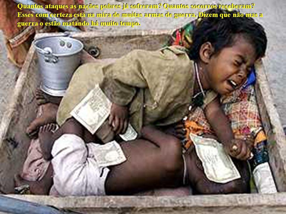 Quantos ataques as nações pobres já sofreram