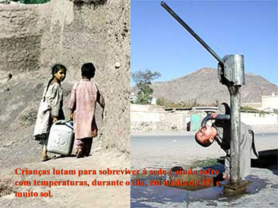 Crianças lutam para sobreviver à sede e ainda sofre