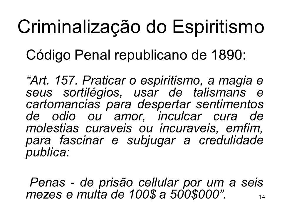 Criminalização do Espiritismo