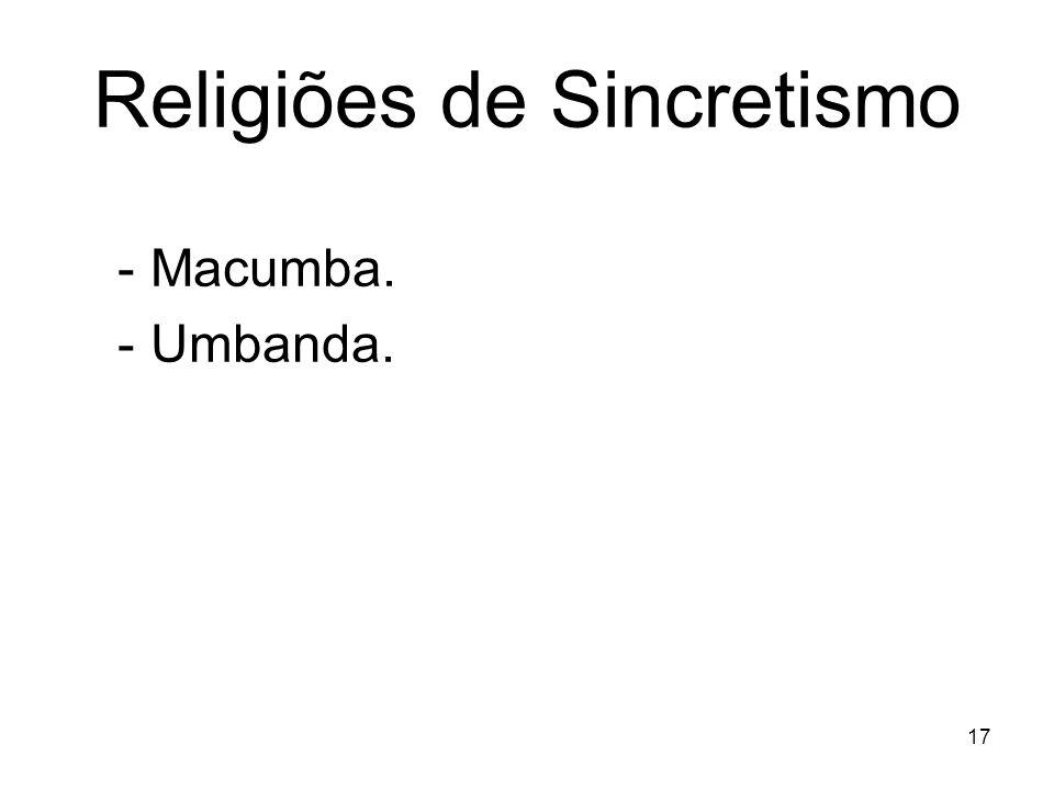 Religiões de Sincretismo