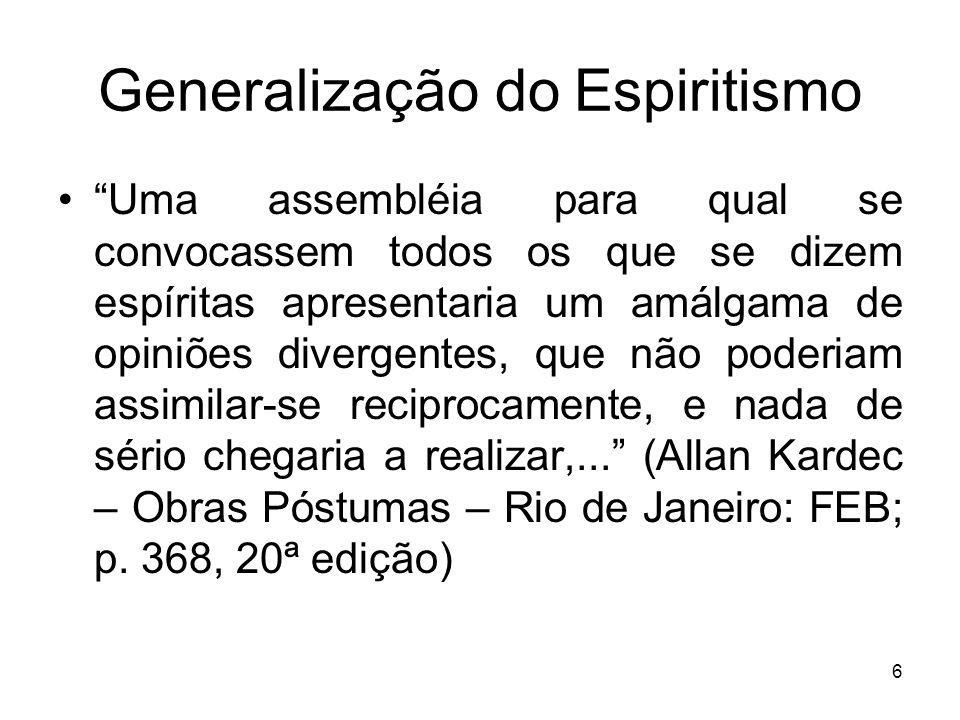 Generalização do Espiritismo