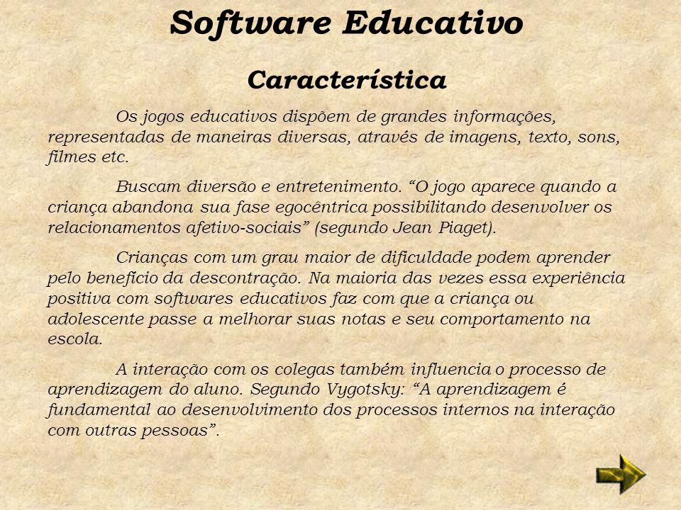 Software Educativo Característica