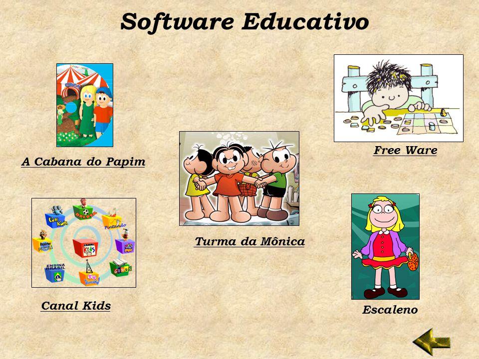 Software Educativo Free Ware A Cabana do Papim Turma da Mônica