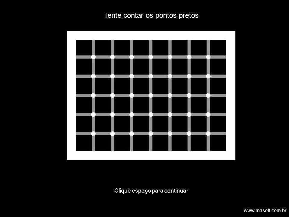 Tente contar os pontos pretos