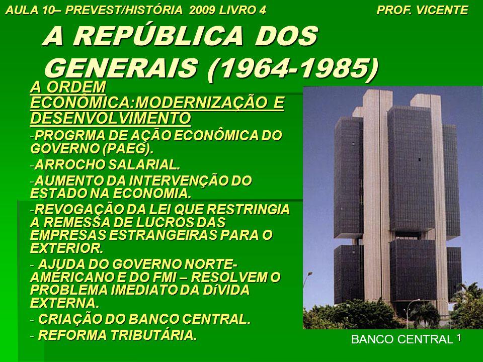 A REPÚBLICA DOS GENERAIS (1964-1985)