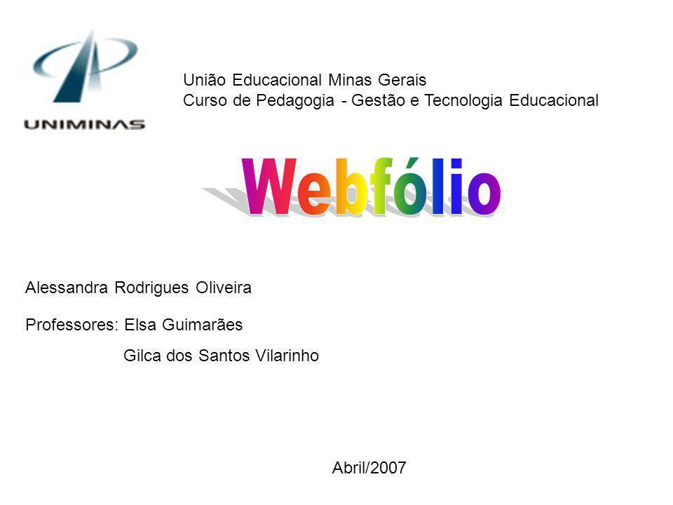 Webfólio União Educacional Minas Gerais
