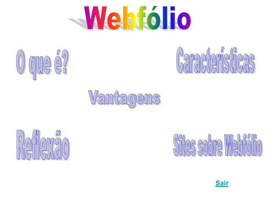 Webfólio Vantagens O que é Reflexão Características