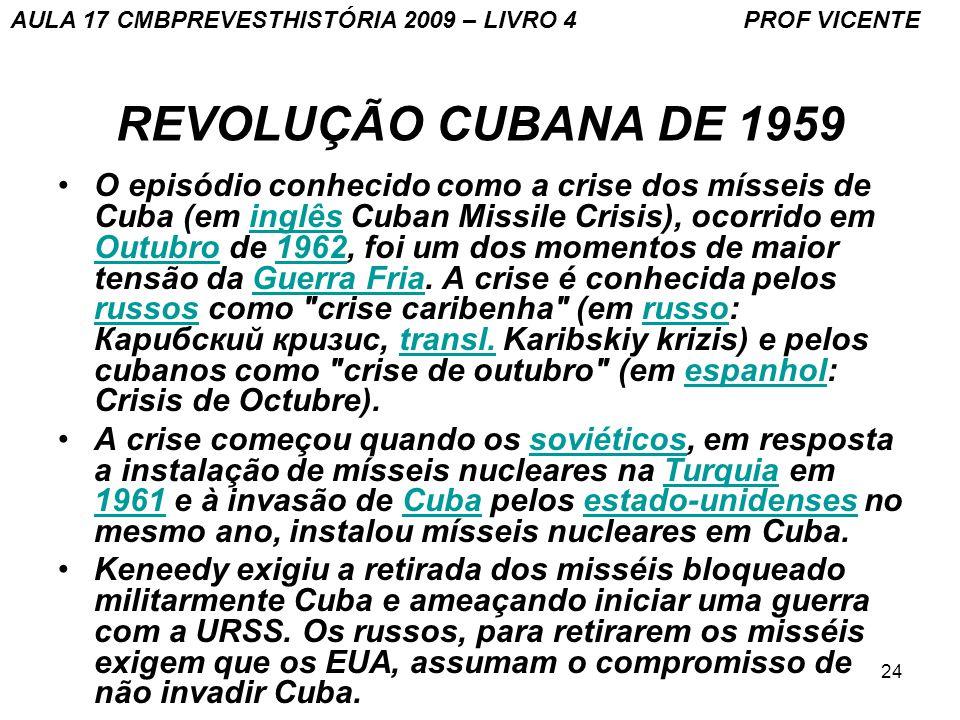 AULA 17 CMBPREVESTHISTÓRIA 2009 – LIVRO 4 PROF VICENTE