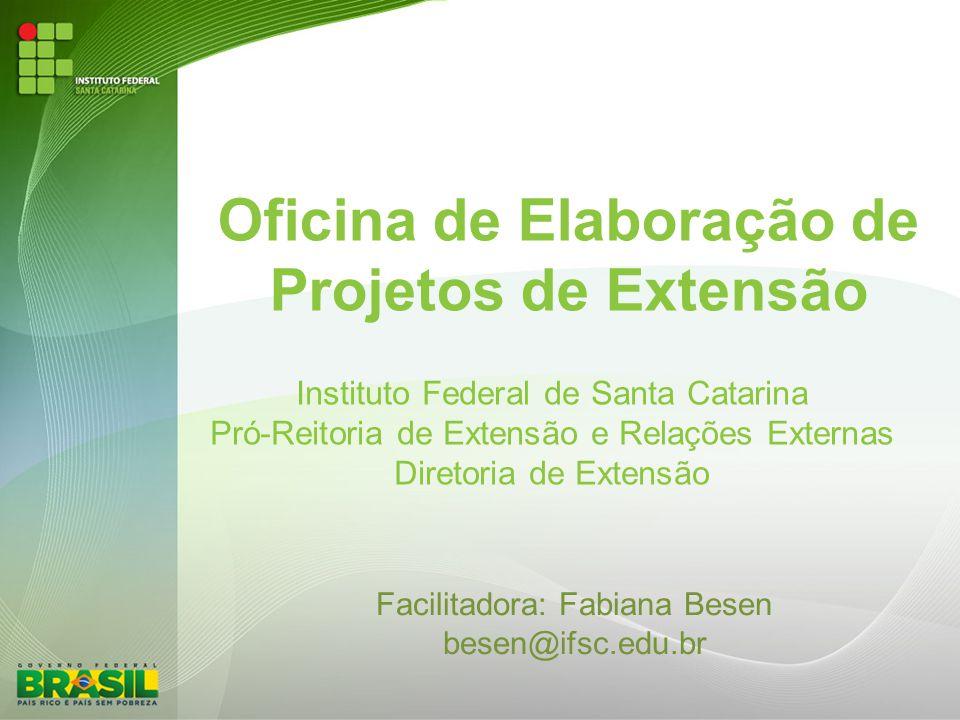Oficina de Elaboração de Projetos de Extensão