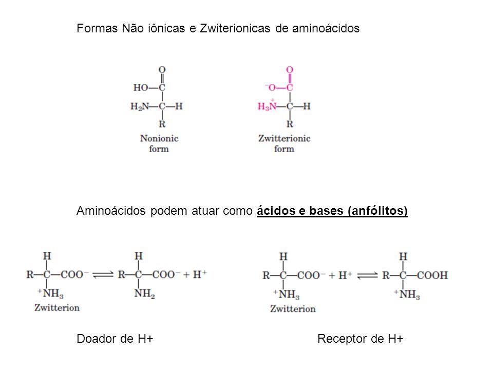 Formas Não iônicas e Zwiterionicas de aminoácidos