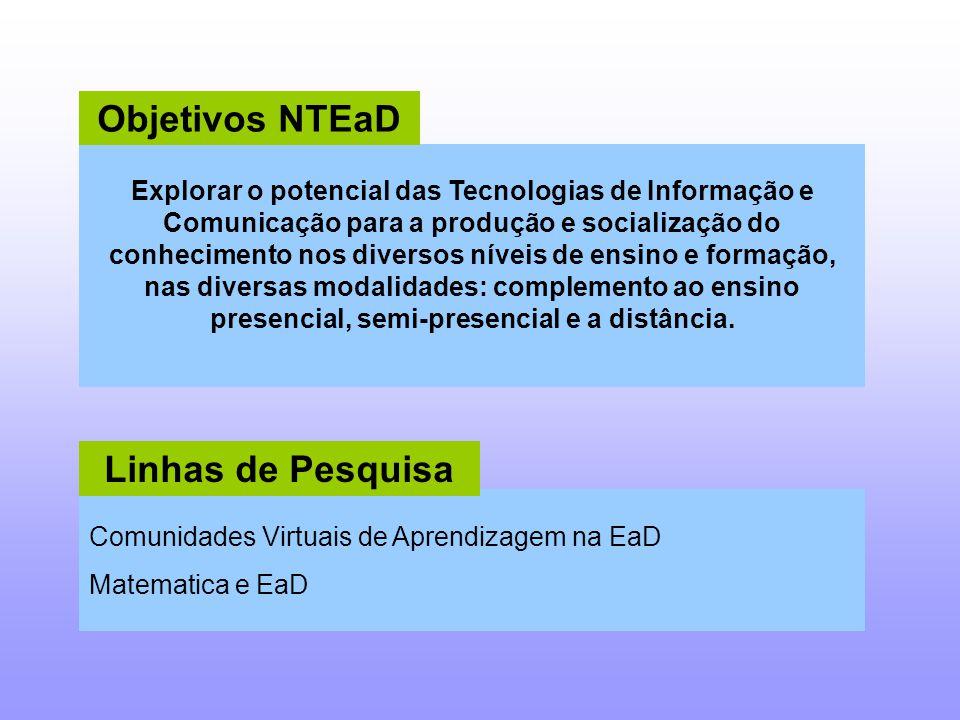 Objetivos NTEaD Linhas de Pesquisa