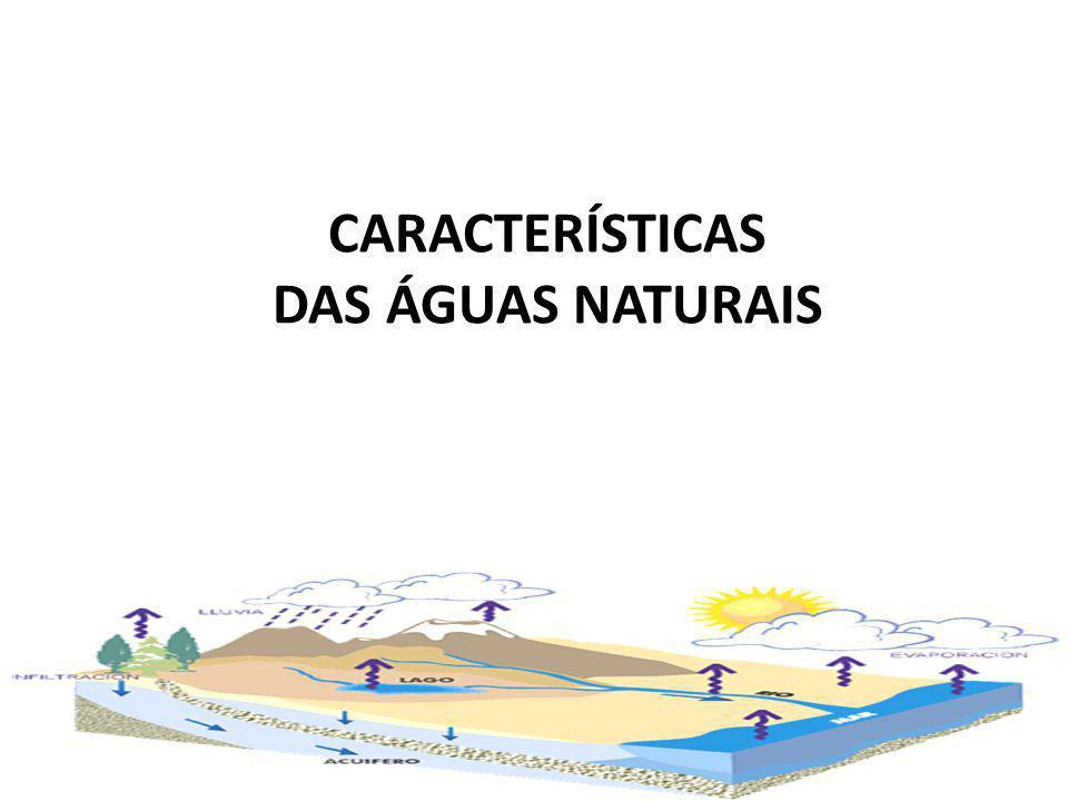 CARACTERÍSTICAS DAS ÁGUAS NATURAIS