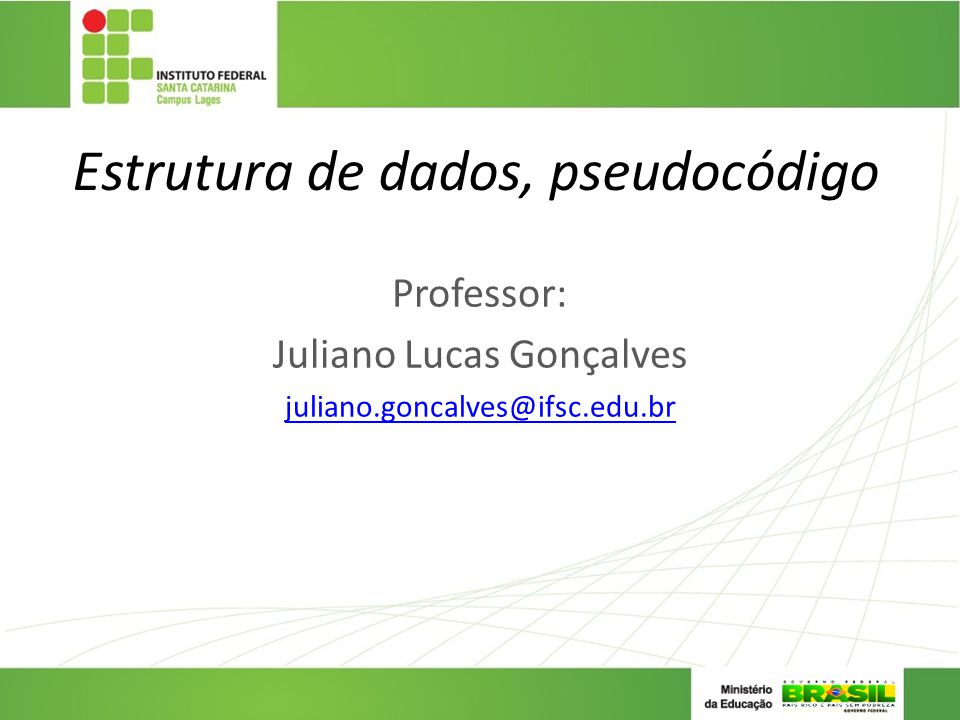 Estrutura de dados, pseudocódigo
