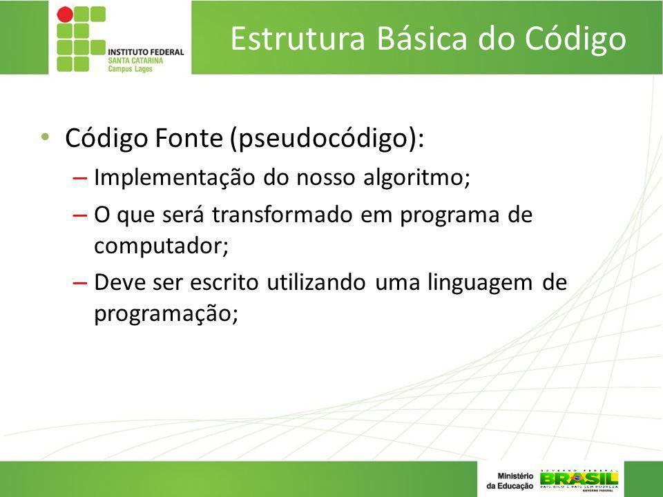 Estrutura Básica do Código