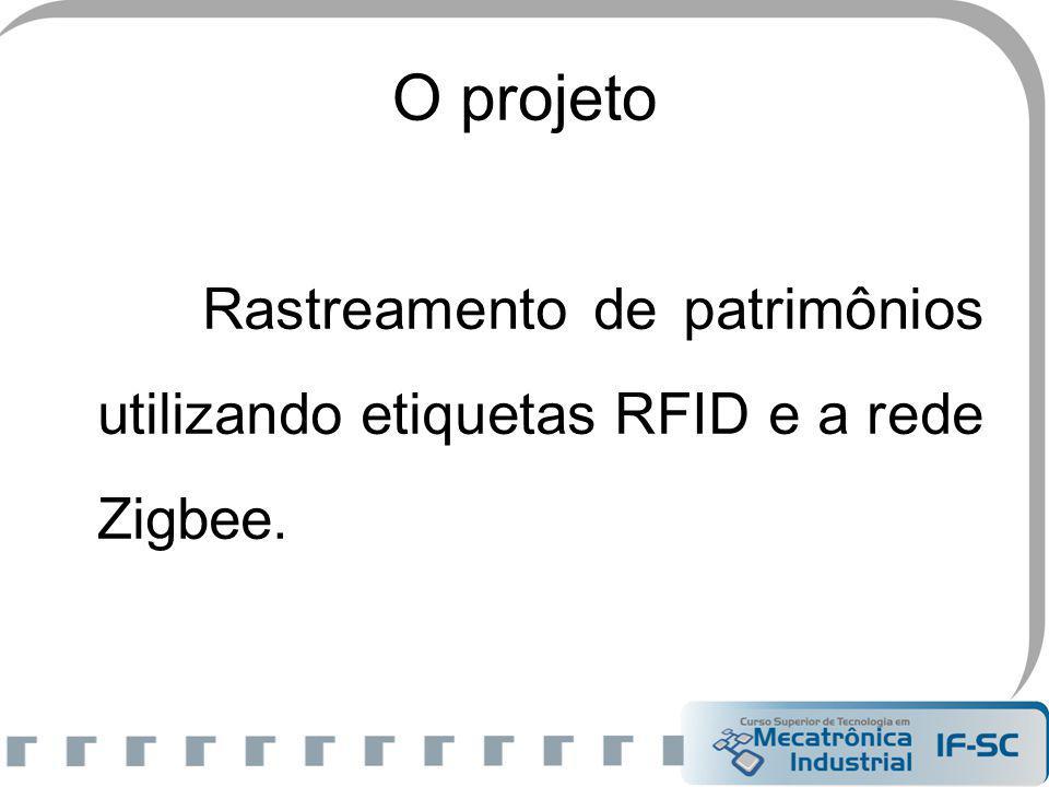 O projeto Rastreamento de patrimônios utilizando etiquetas RFID e a rede Zigbee.