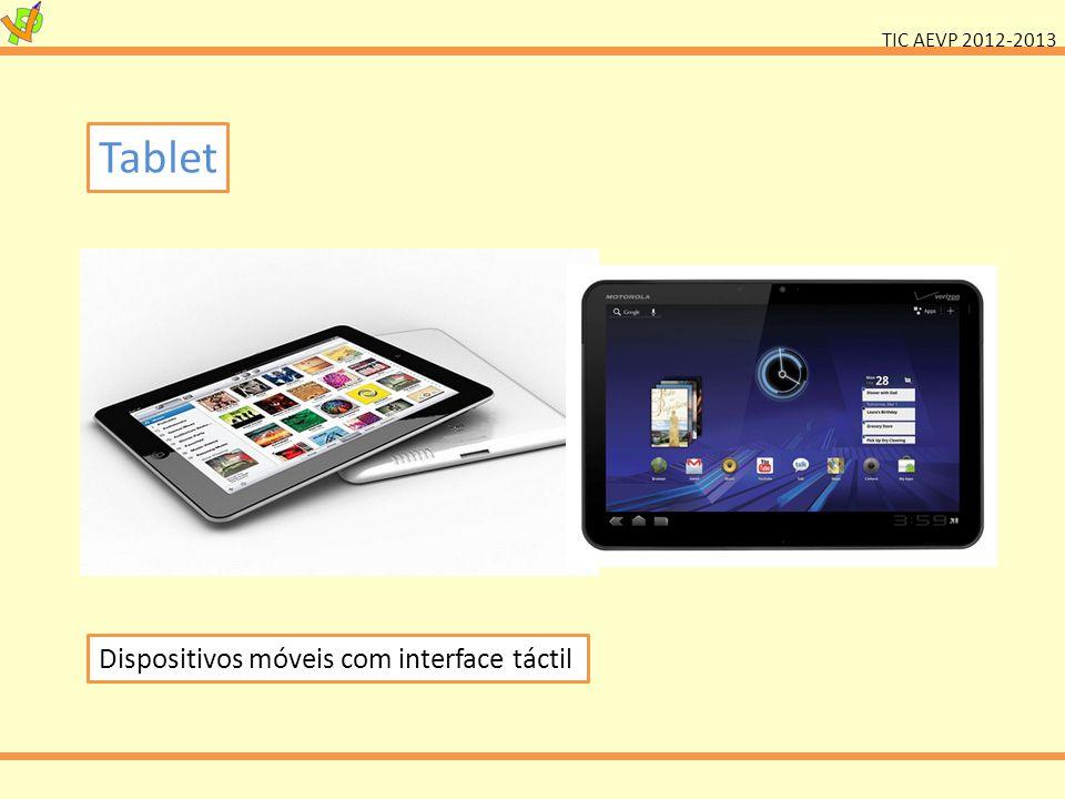 Tablet Dispositivos móveis com interface táctil