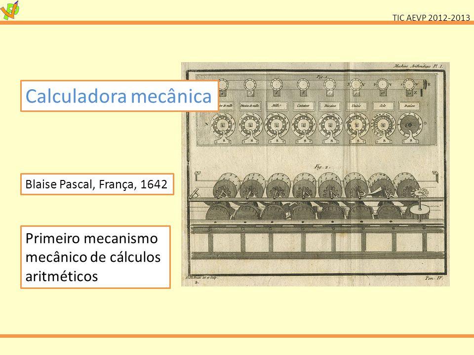 Calculadora mecânica Blaise Pascal, França, 1642.