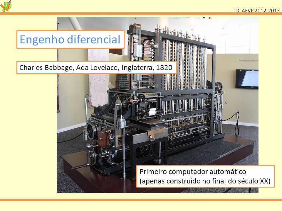 Engenho diferencial Charles Babbage, Ada Lovelace, Inglaterra, 1820