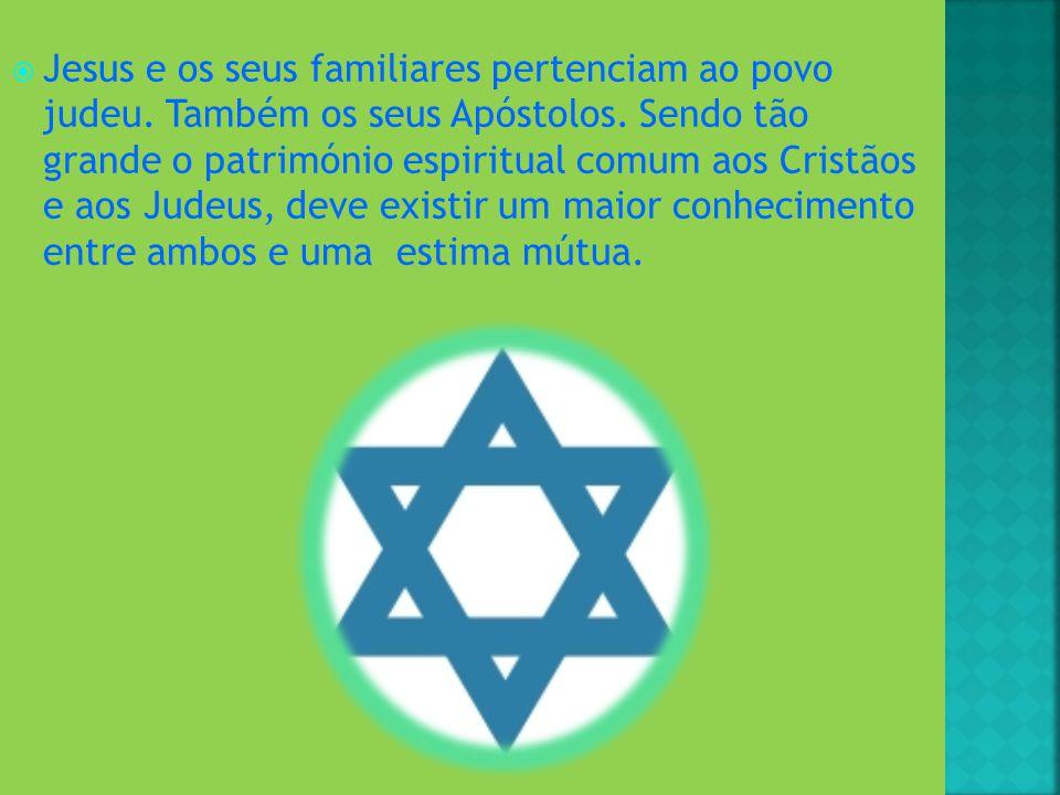 Jesus e os seus familiares pertenciam ao povo judeu