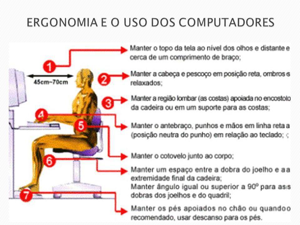 ERGONOMIA E O USO DOS COMPUTADORES