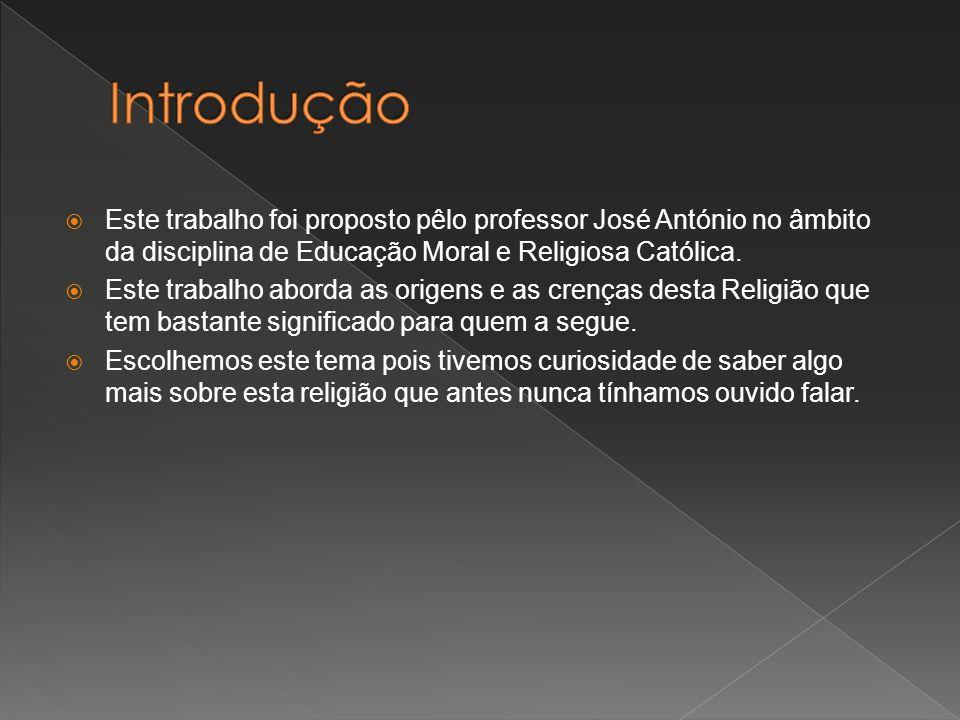 Introdução Este trabalho foi proposto pêlo professor José António no âmbito da disciplina de Educação Moral e Religiosa Católica.