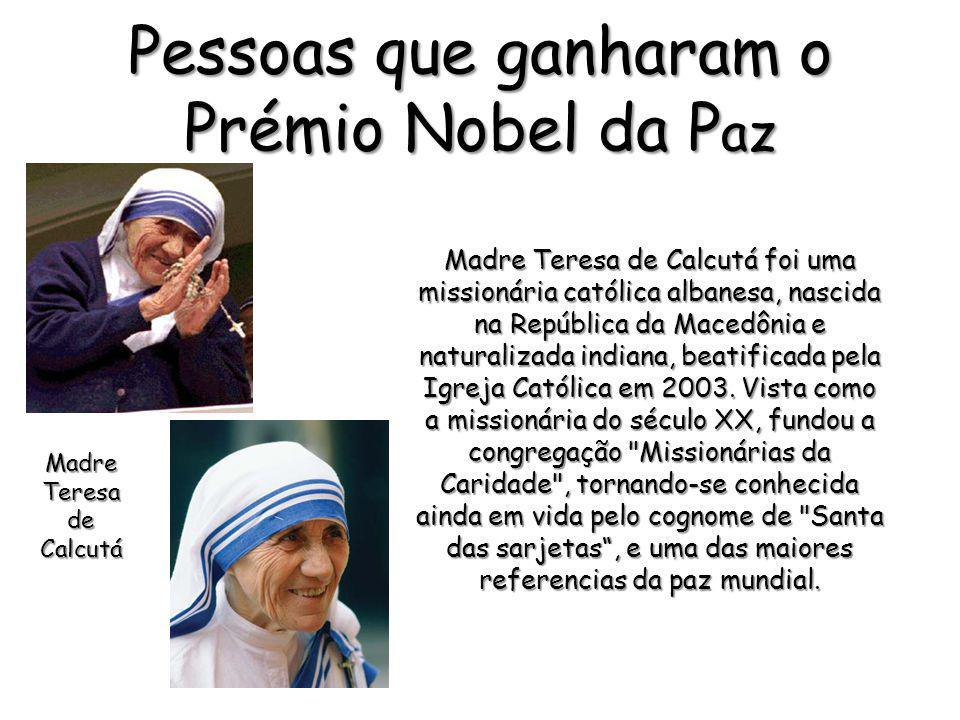 Pessoas que ganharam o Prémio Nobel da Paz
