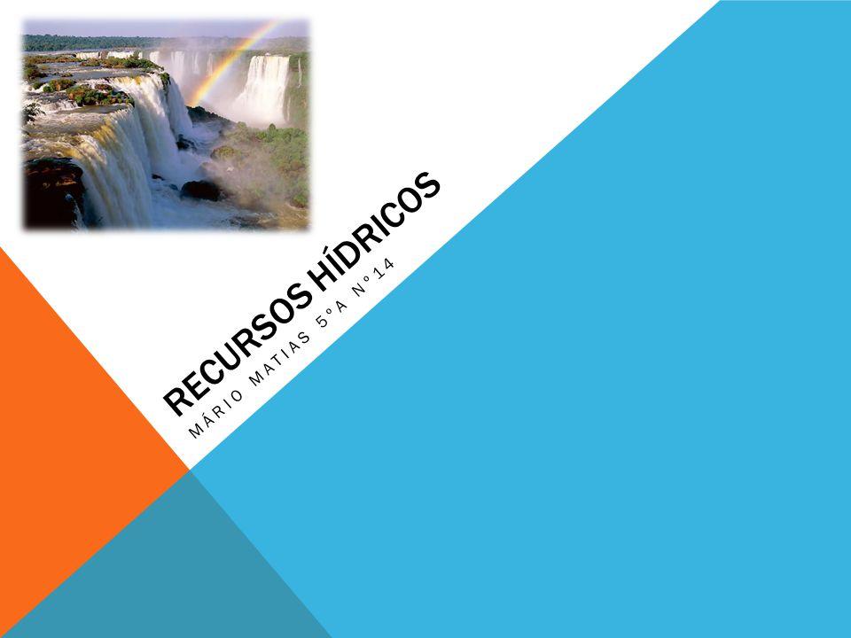 Recursos hídricos Mário matias 5ºa nº14