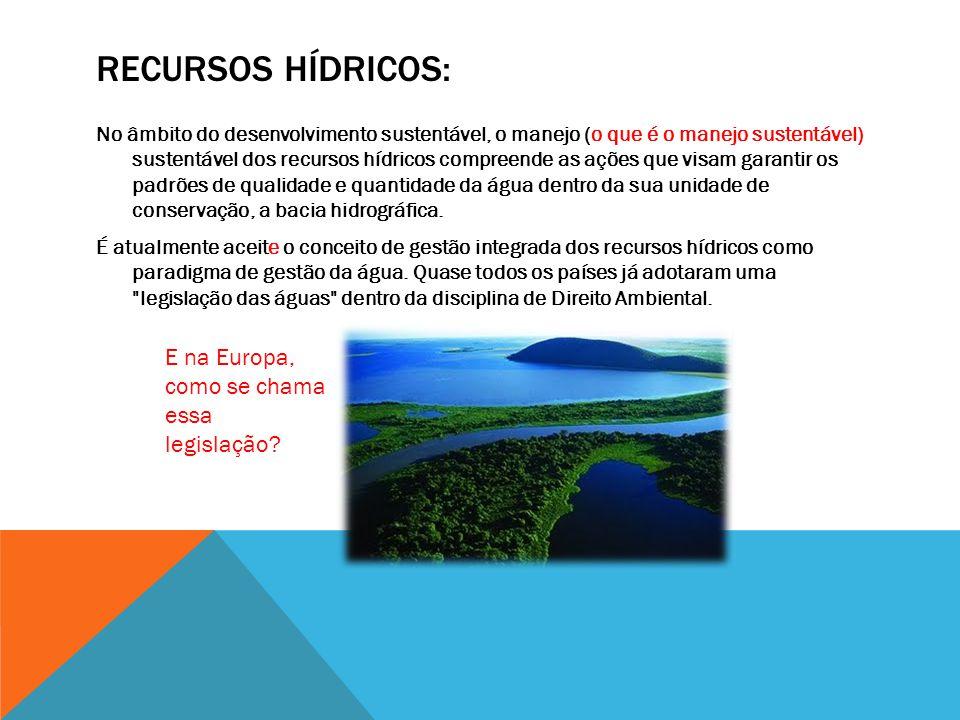 Recursos hídricos: E na Europa, como se chama essa legislação