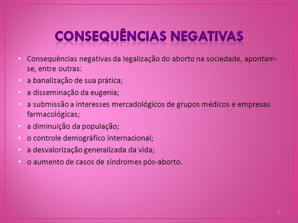 Consequências negativas