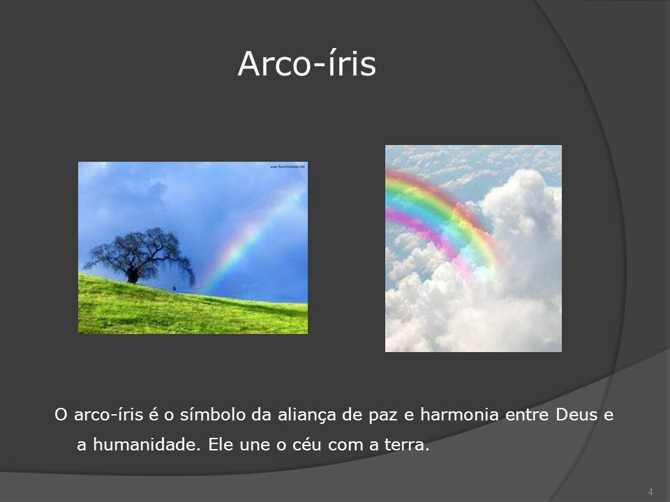 Arco-íris O arco-íris é o símbolo da aliança de paz e harmonia entre Deus e a humanidade.