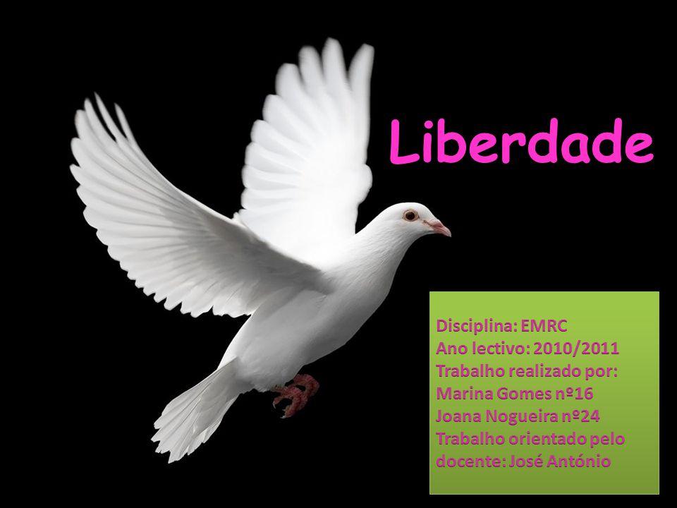 Liberdade Disciplina: EMRC Ano lectivo: 2010/2011