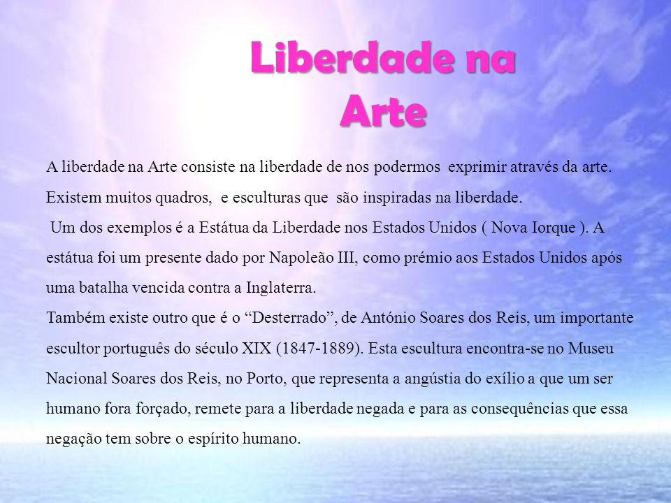 Liberdade na Arte Liberdade na Arte