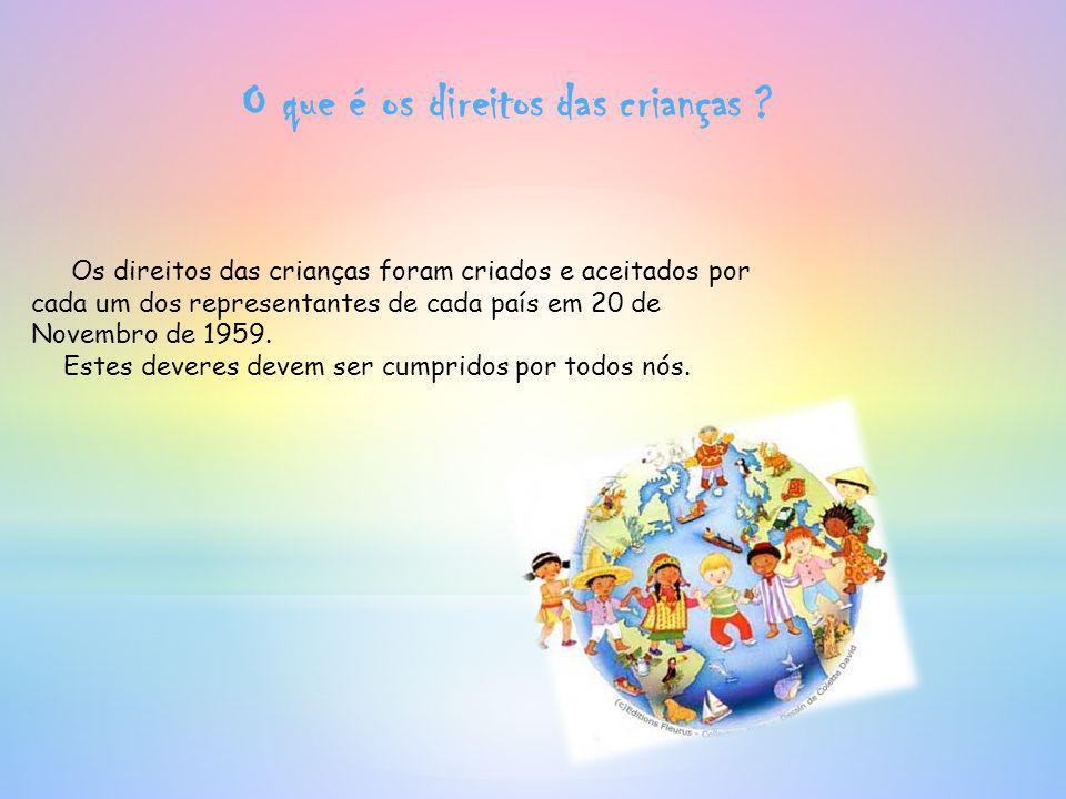 O que é os direitos das crianças