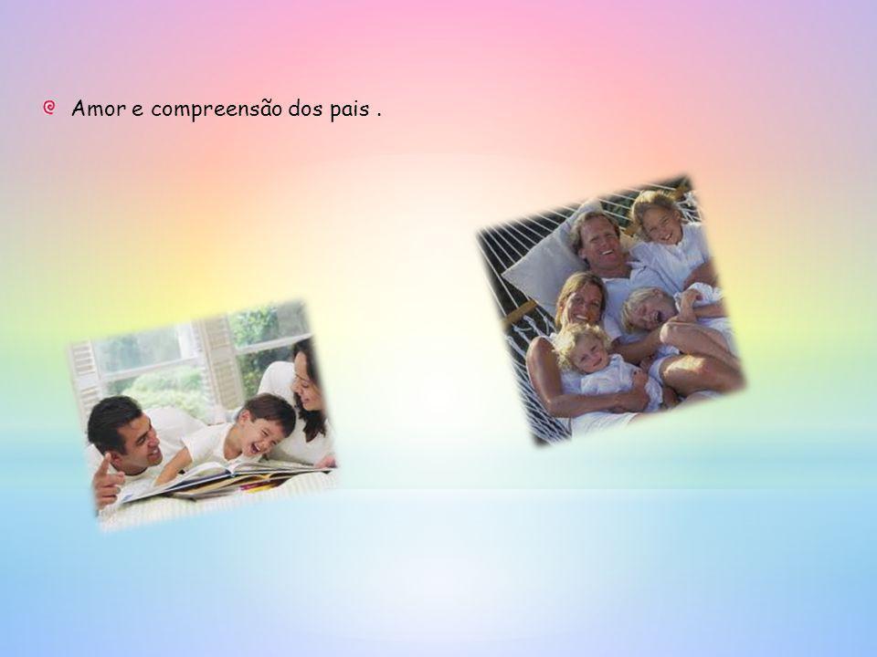 Amor e compreensão dos pais .