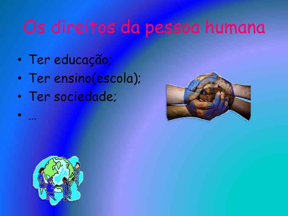 Os direitos da pessoa humana