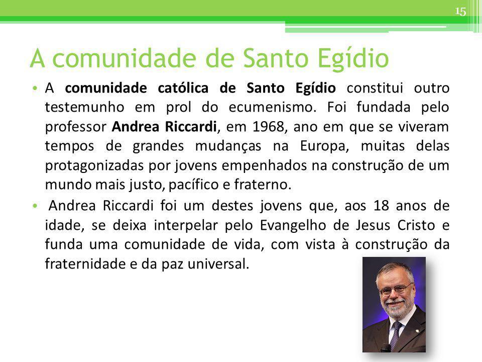 A comunidade de Santo Egídio
