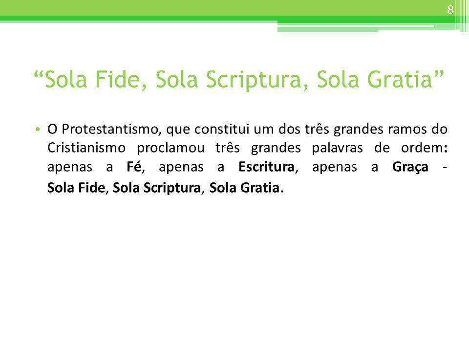 Sola Fide, Sola Scriptura, Sola Gratia