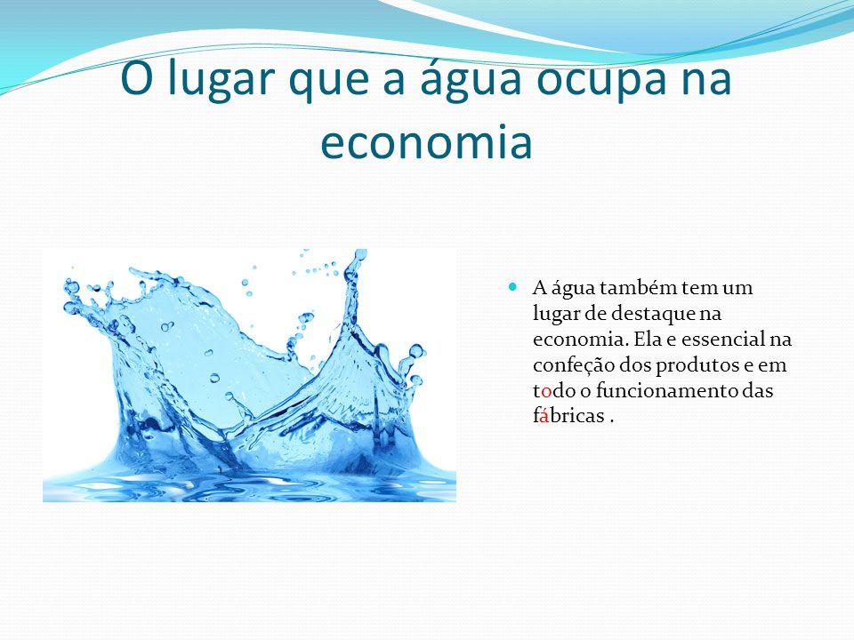 O lugar que a água ocupa na economia