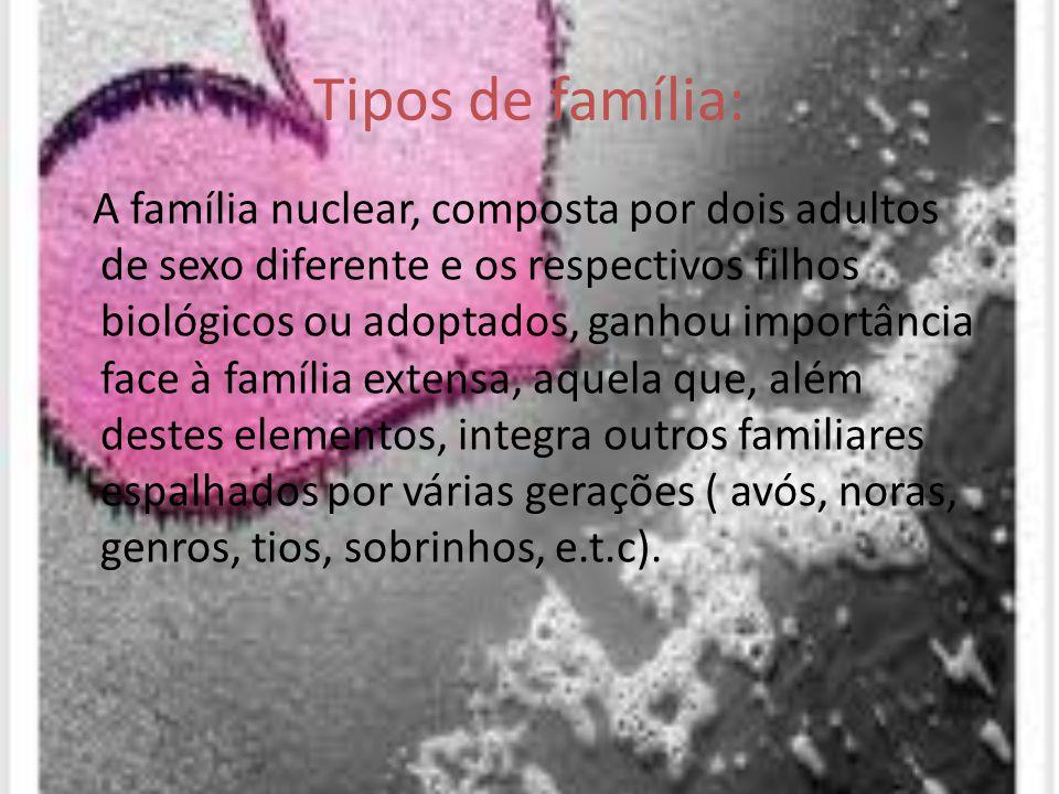 Tipos de família: