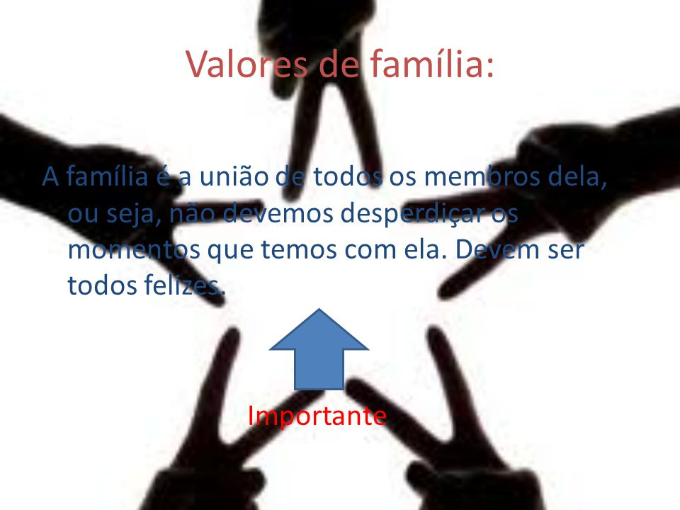 Valores de família:
