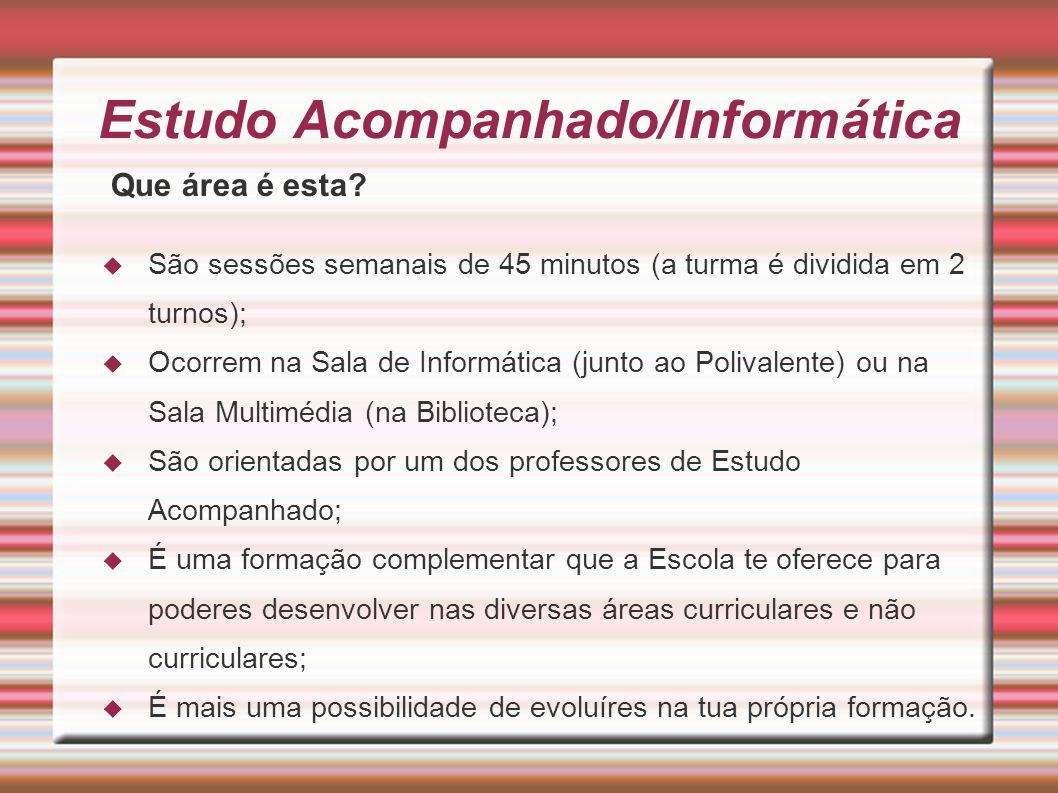 Estudo Acompanhado/Informática