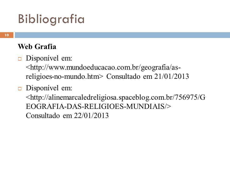 Bibliografia Web Grafia
