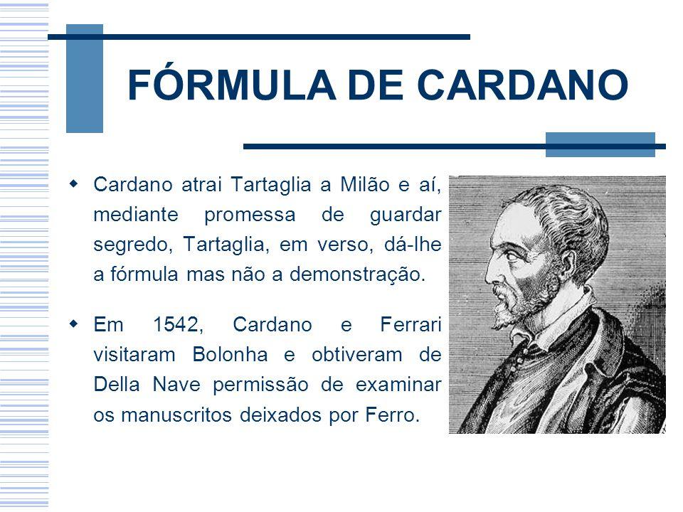 FÓRMULA DE CARDANO