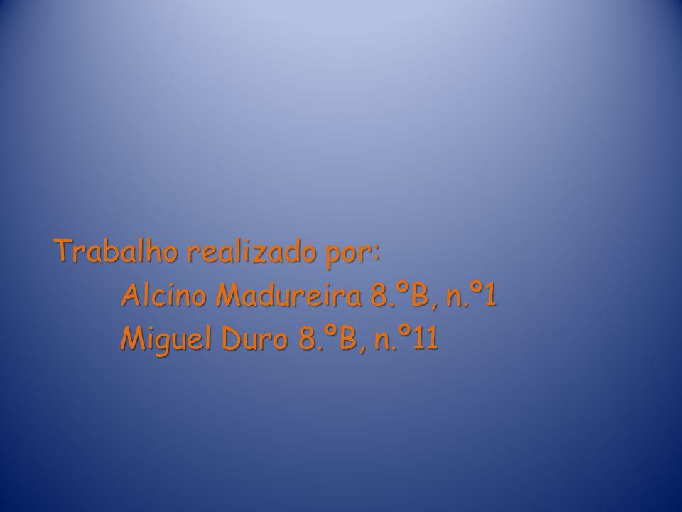 Trabalho realizado por: Alcino Madureira 8. ºB, n. º1 Miguel Duro 8