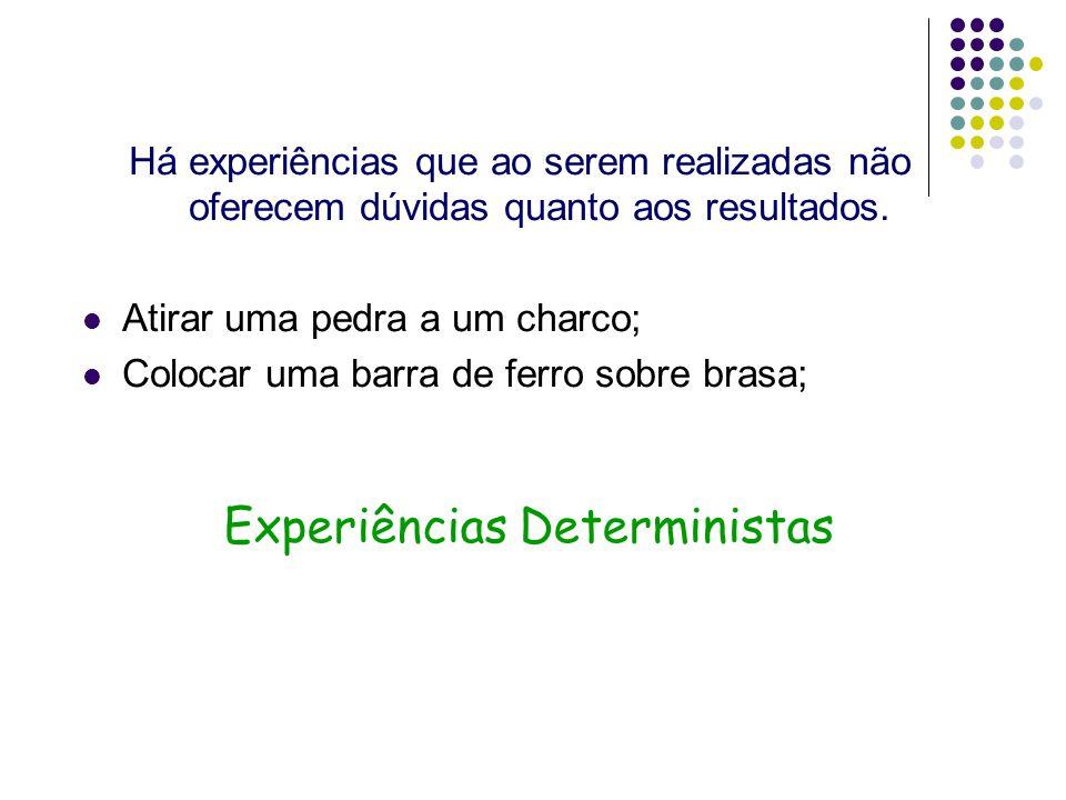Experiências Deterministas