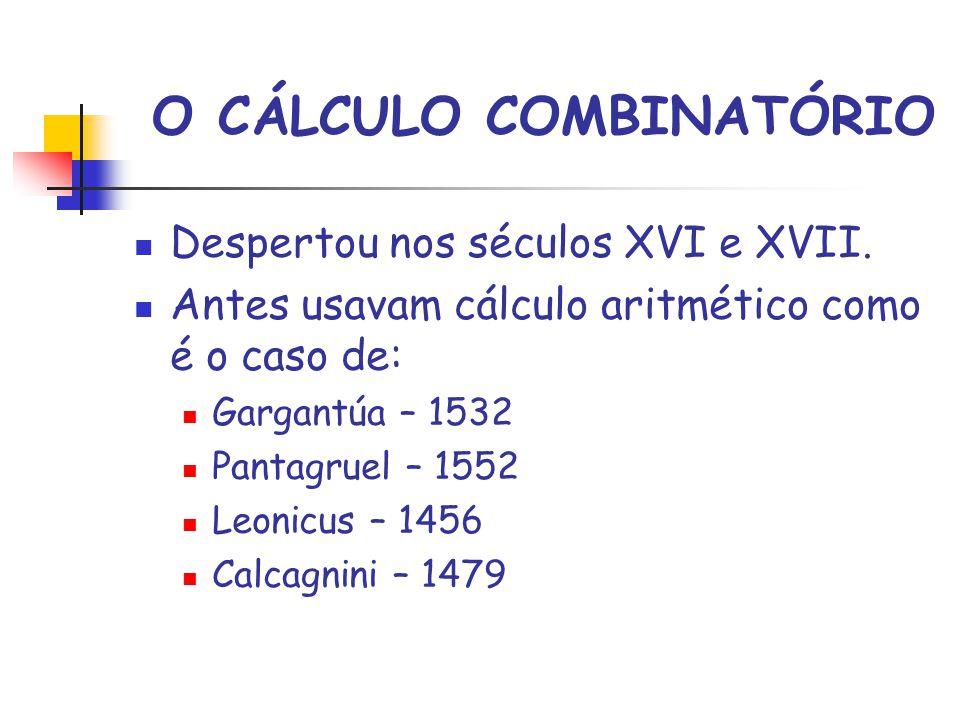 O CÁLCULO COMBINATÓRIO